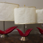 3 red Vintage Lamps