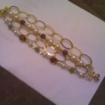 4-Strand Bracelet w Semi-precious stones