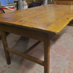 RUstic 19c pine harvest table