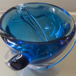 blue bowl Glass Art